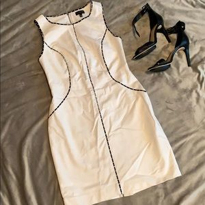 Limited White Dress with Black detail